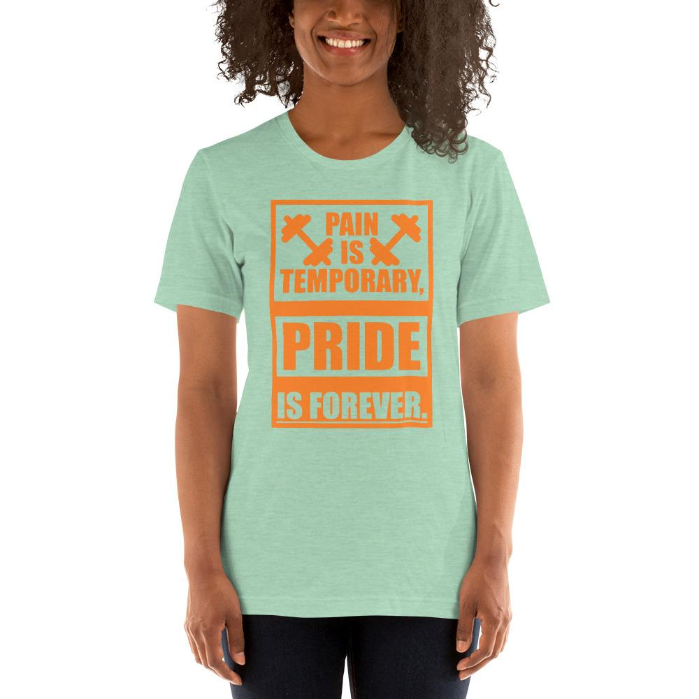 Pain is temporary, Pride is forever Women's T-Shirt Chiro's Heather Prism Mint XS