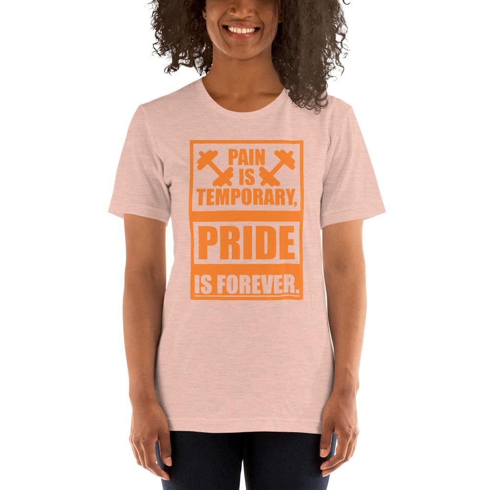 Pain is temporary, Pride is forever Women's T-Shirt Chiro's Heather Prism Peach XS
