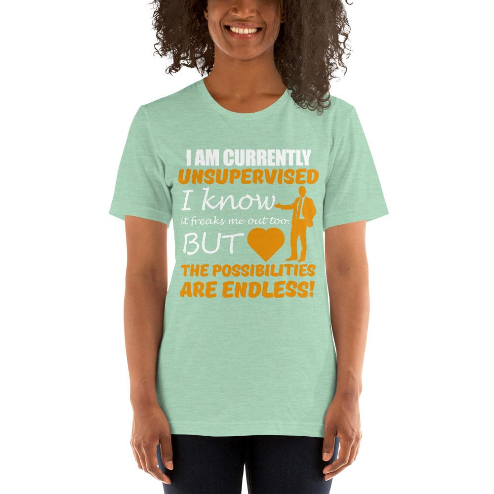 Possibilities are endless women's T-Shirt Chiro's Heather Prism Mint XS