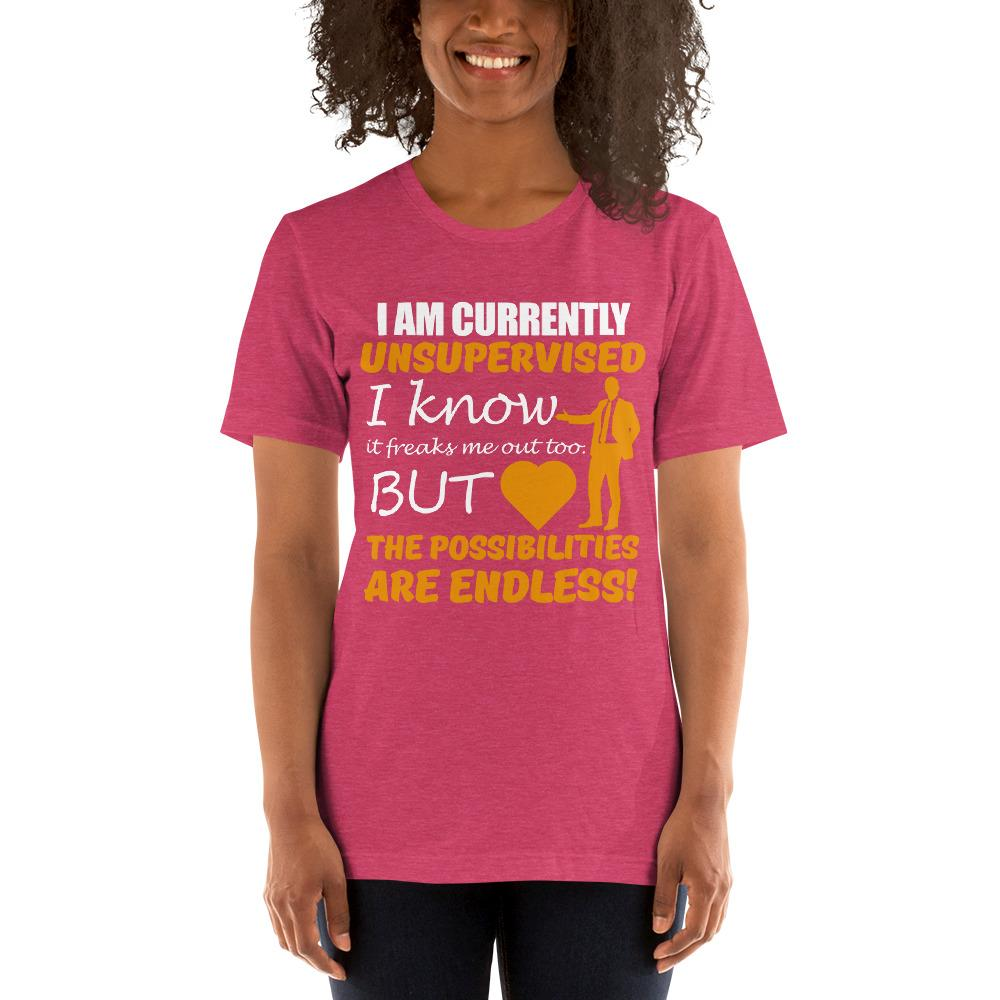 Possibilities are endless women's T-Shirt Chiro's Heather Raspberry S