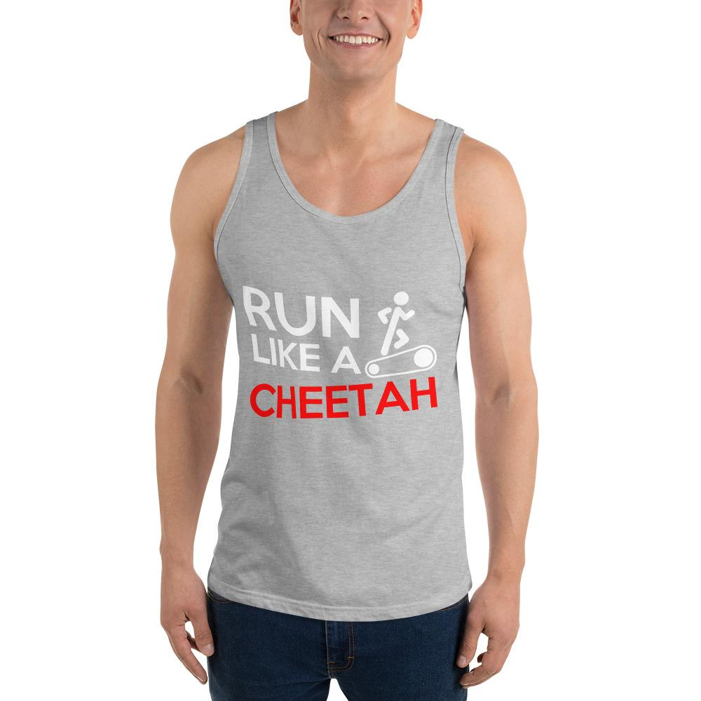 Run Like A Cheetah Tank Top Chiro's Athletic Heather XS