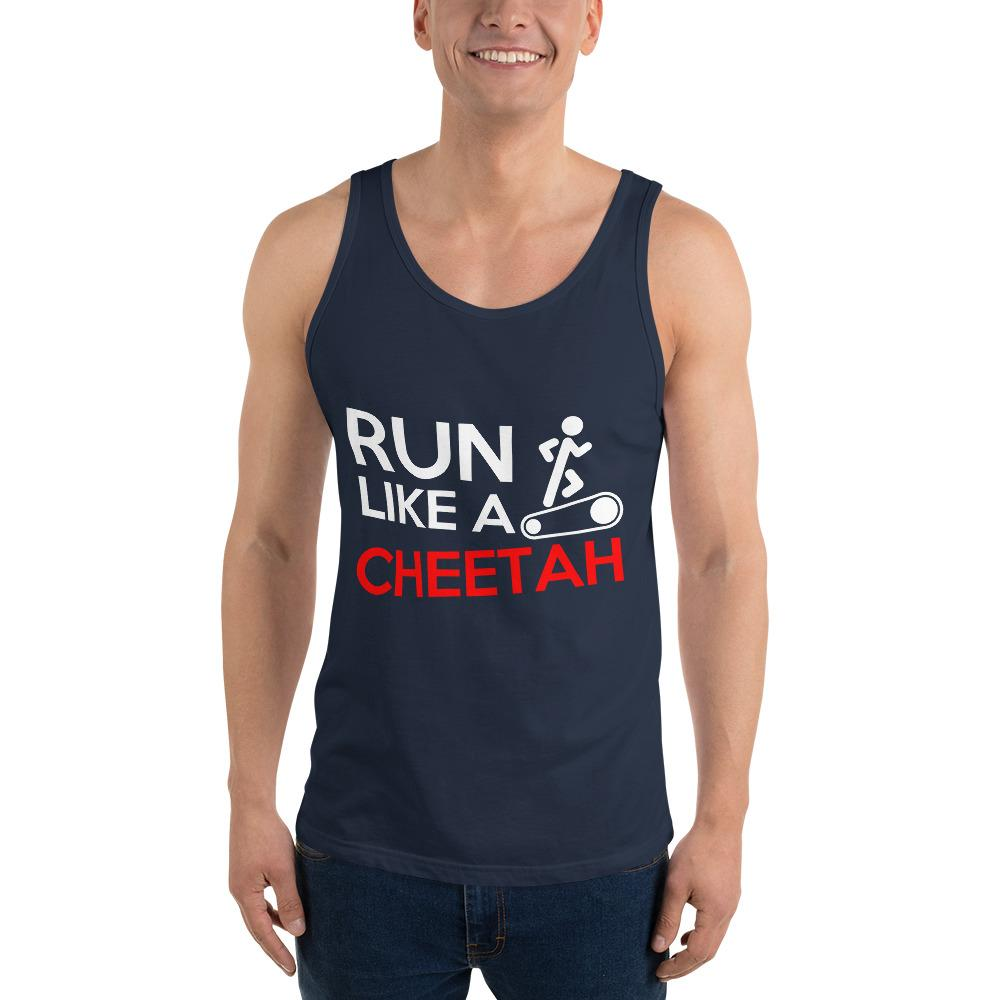 Run Like A Cheetah Tank Top Chiro's Navy XS