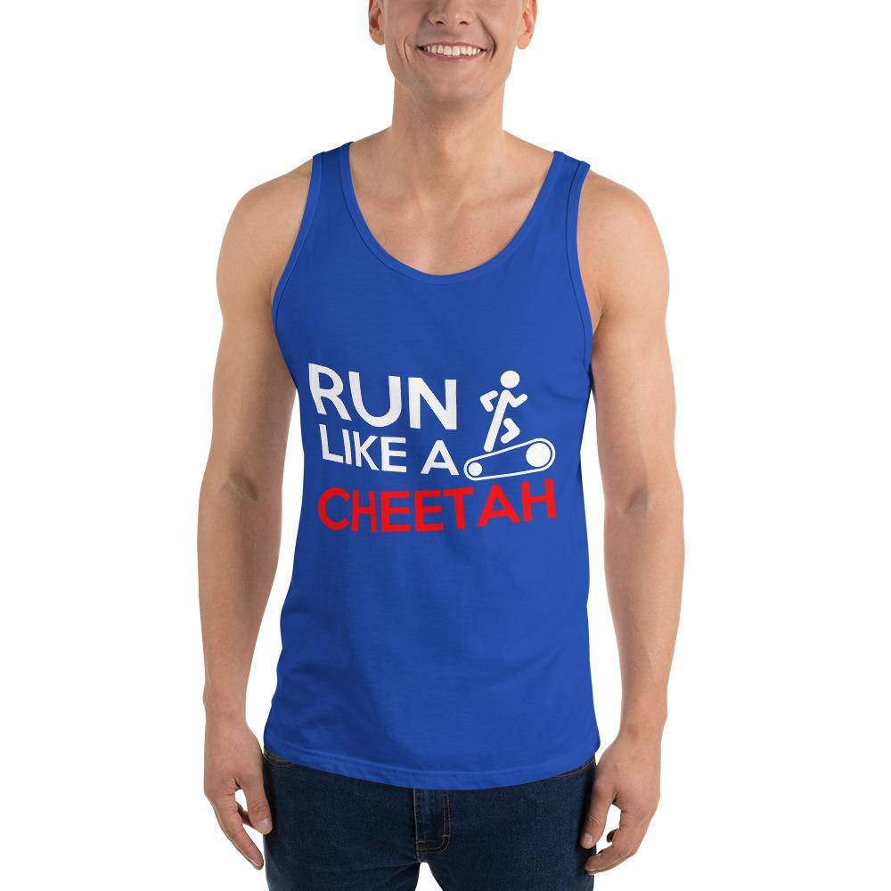 Run Like A Cheetah Tank Top Chiro's True Royal XS