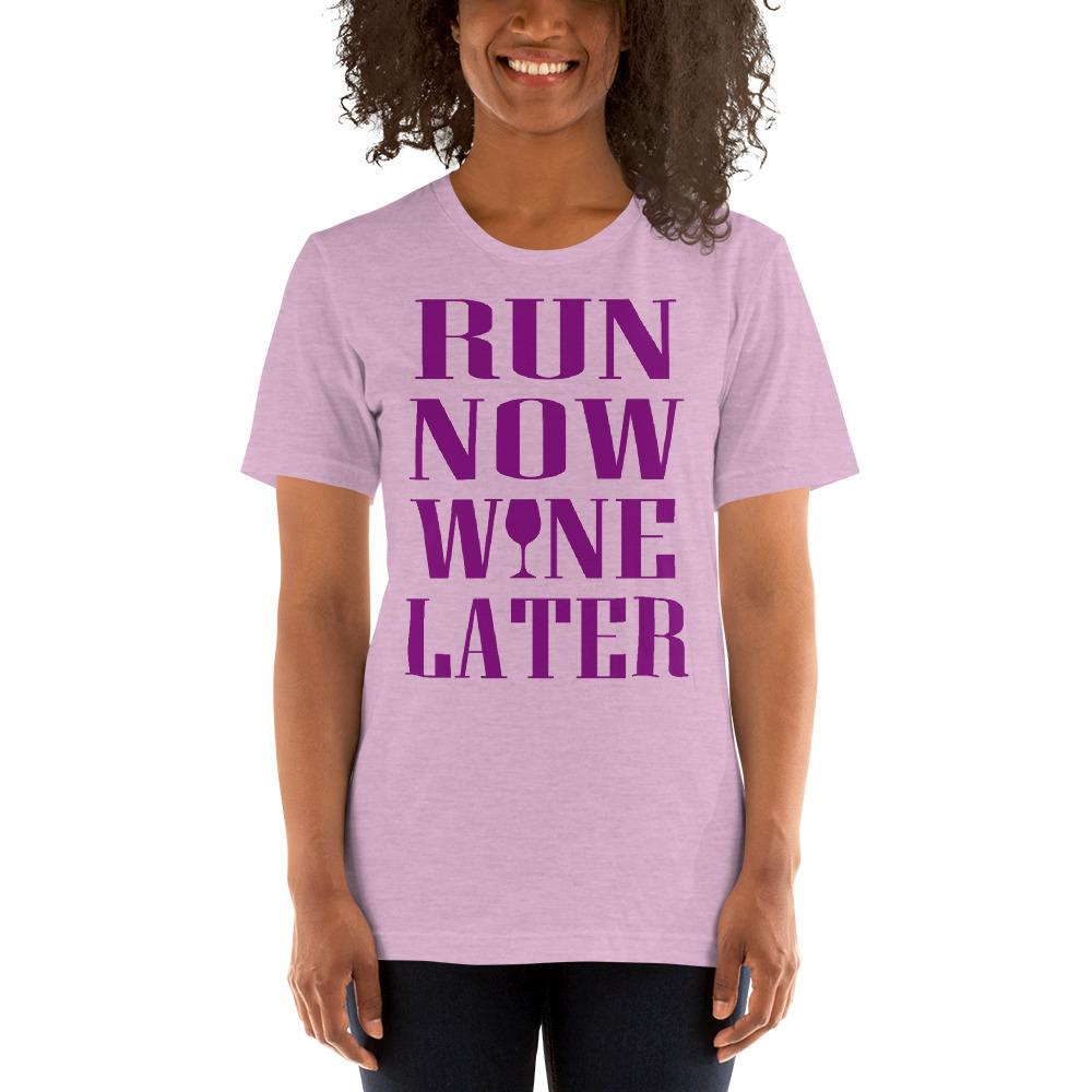 Run now, Whine Later Women's T-Shirt Chiro's Heather Prism Lilac XS
