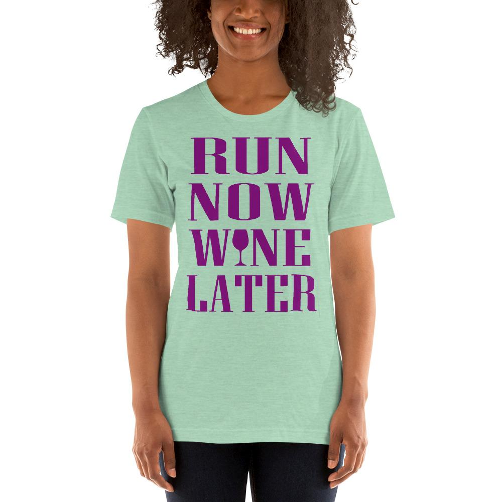 Run now, Whine Later Women's T-Shirt Chiro's Heather Prism Mint XS
