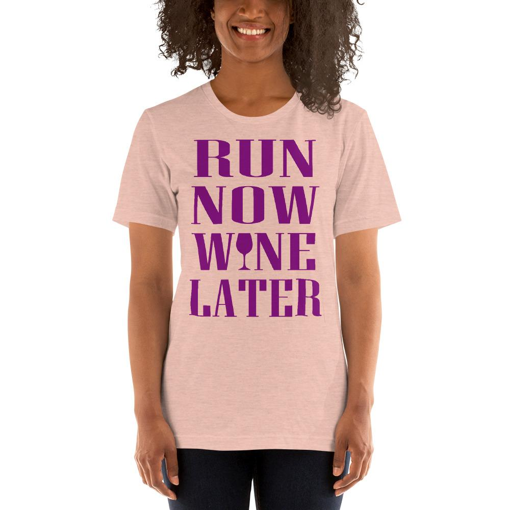 Run now, Whine Later Women's T-Shirt Chiro's Heather Prism Peach XS