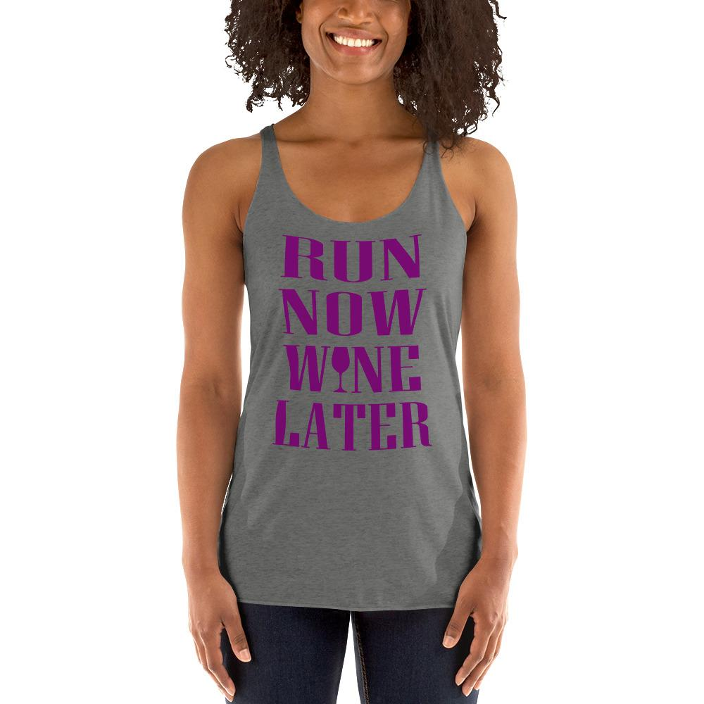 Run now, Whine Later Women's Tank Top Chiro's Premium Heather XS