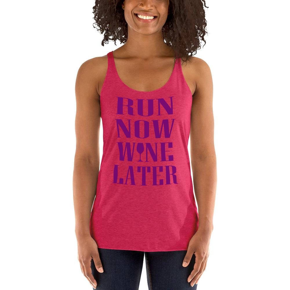 Run now, Whine Later Women's Tank Top Chiro's Vintage Shocking Pink XS