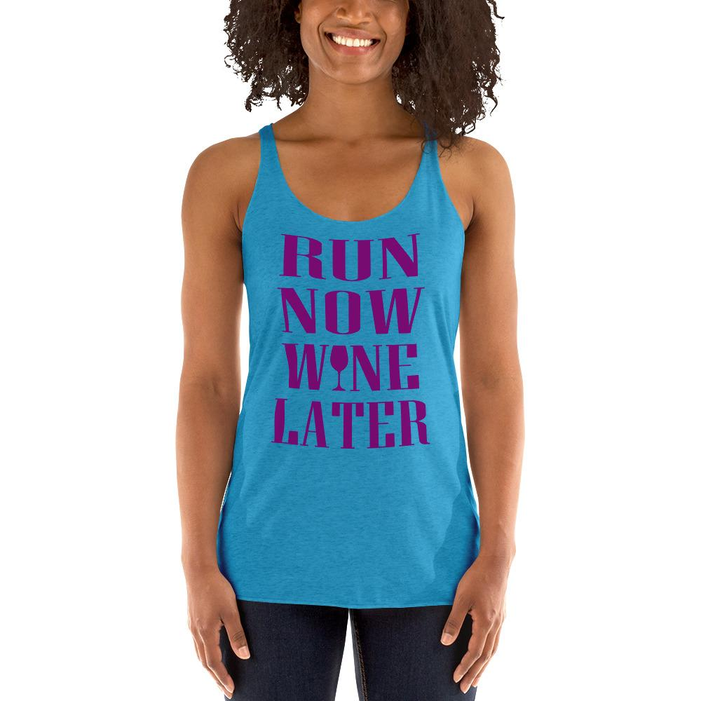 Run now, Whine Later Women's Tank Top Chiro's Vintage Turquoise XS