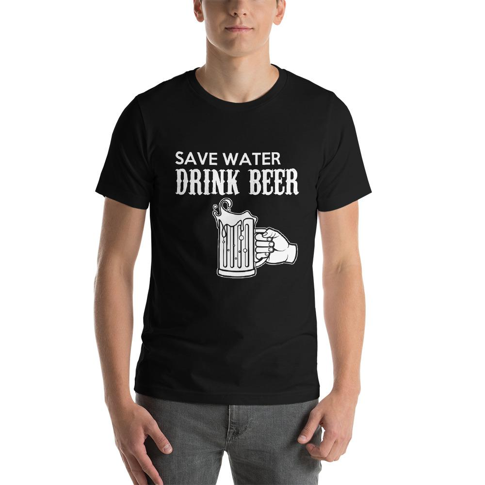 Save Water, Drink Beer Men's T-Shirt Chiro's Black XS