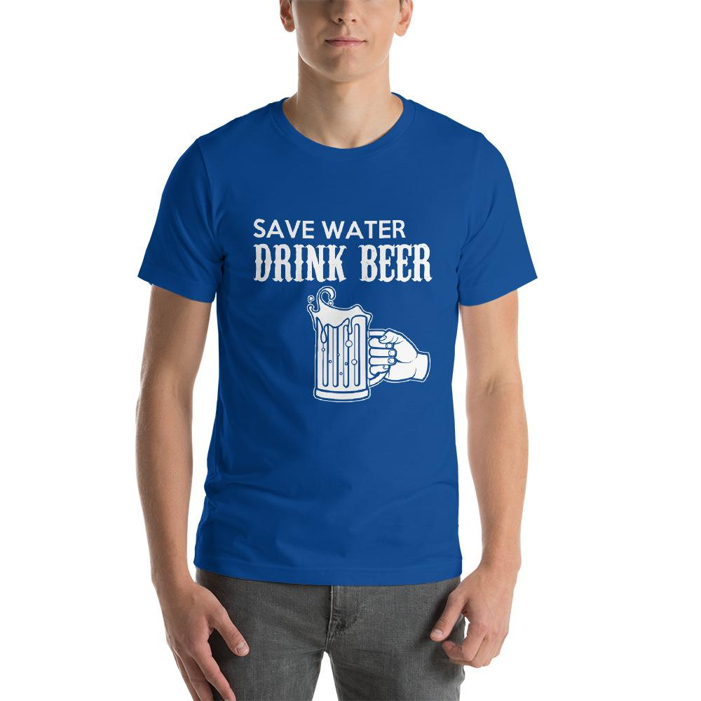 Save Water, Drink Beer Men's T-Shirt Chiro's True Royal S