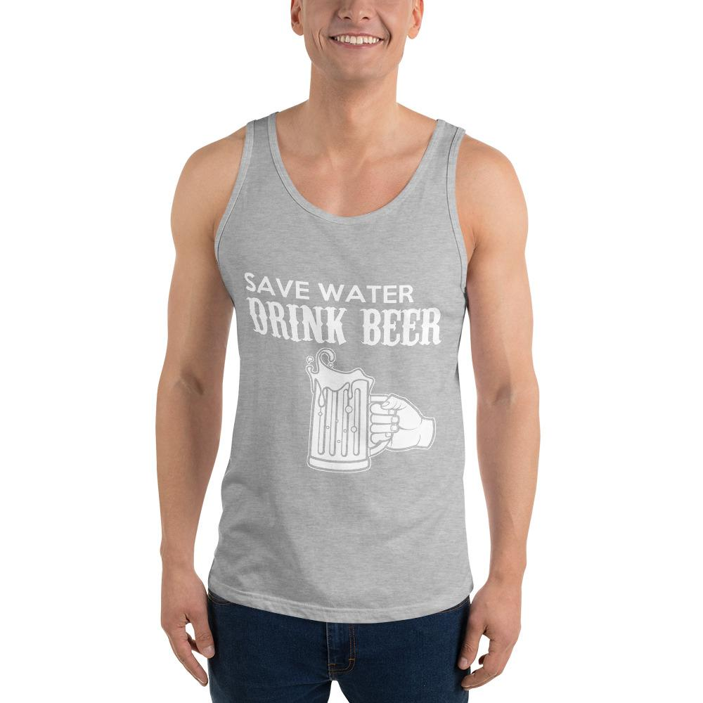 Save Water Drink Beer Tank Top Chiro's Athletic Heather XS
