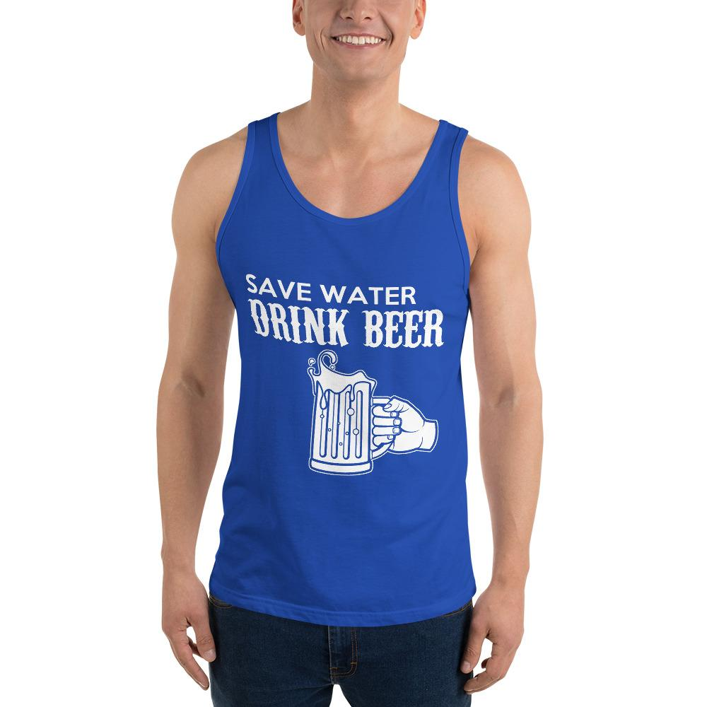 Save Water Drink Beer Tank Top Chiro's True Royal XS