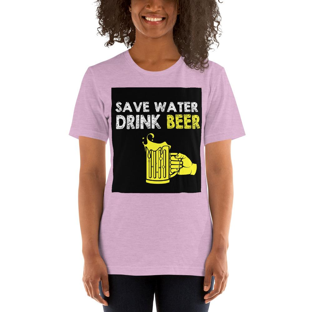 Save Water Drink Beer Women's T-Shirt Chiro's Heather Prism Lilac XS