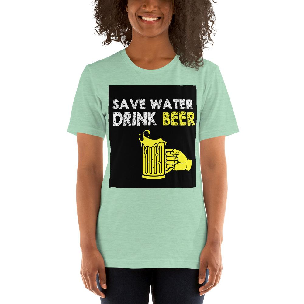 Save Water Drink Beer Women's T-Shirt Chiro's Heather Prism Mint XS