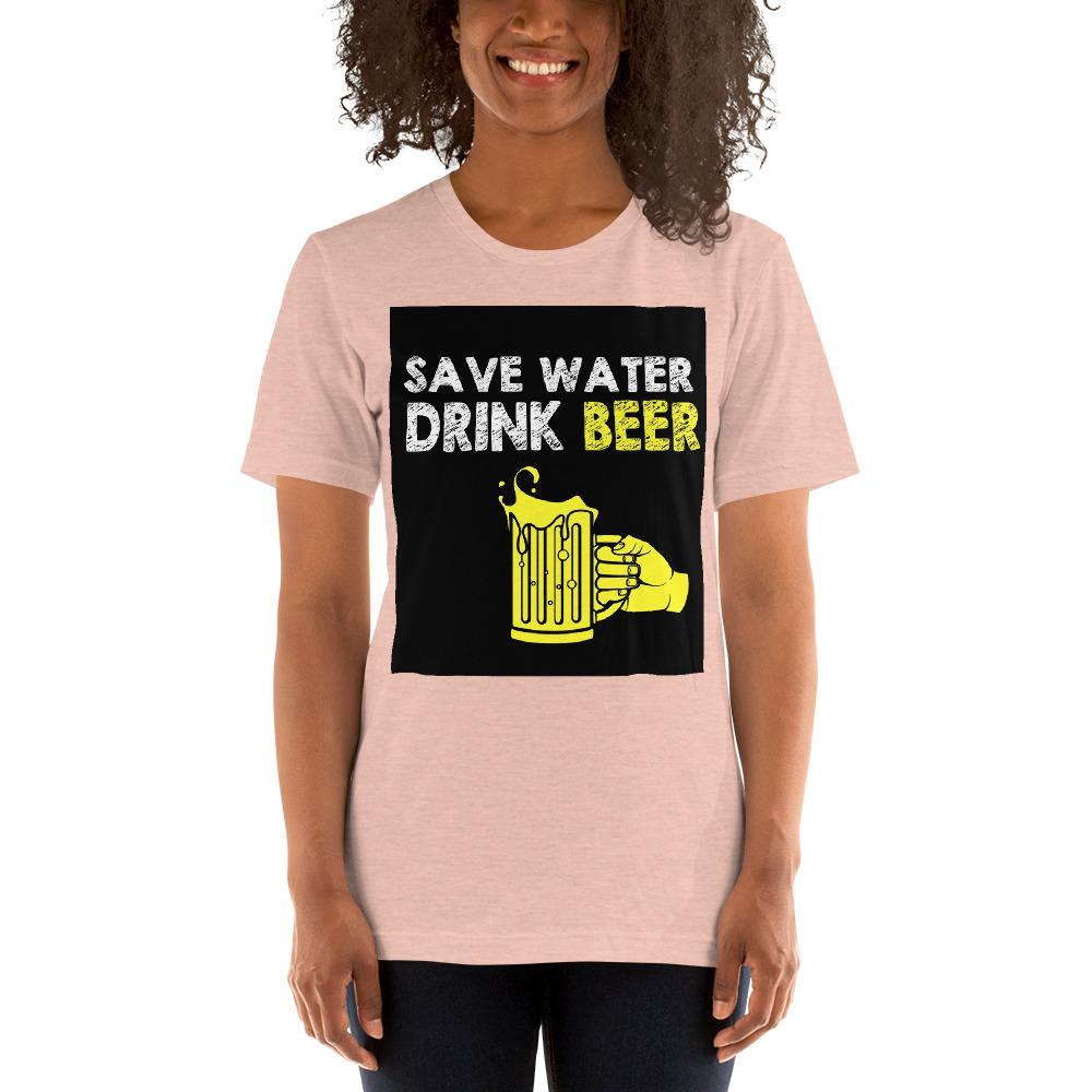 Save Water Drink Beer Women's T-Shirt Chiro's Heather Prism Peach XS
