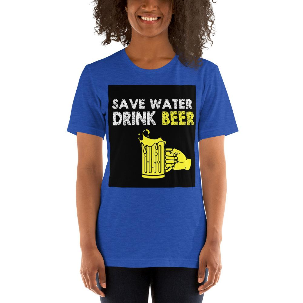 Save Water Drink Beer Women's T-Shirt Chiro's Heather True Royal S