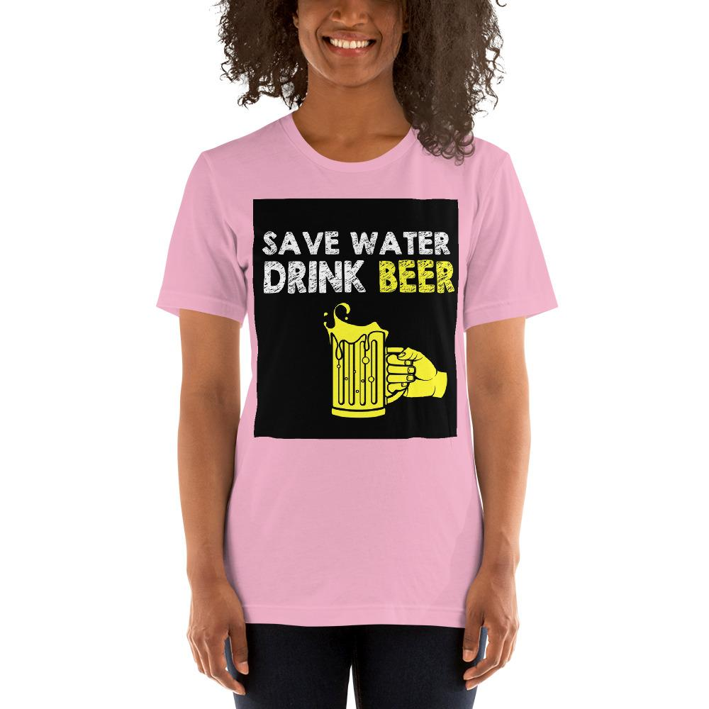Save Water Drink Beer Women's T-Shirt Chiro's Lilac S