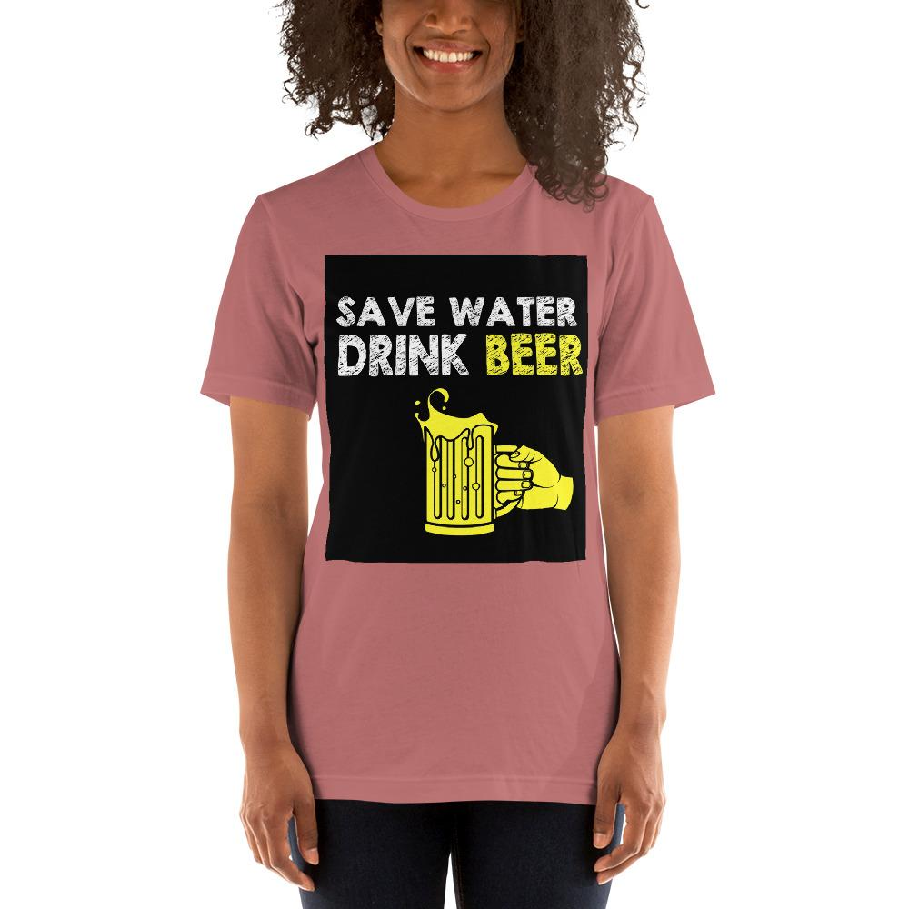 Save Water Drink Beer Women's T-Shirt Chiro's Mauve S