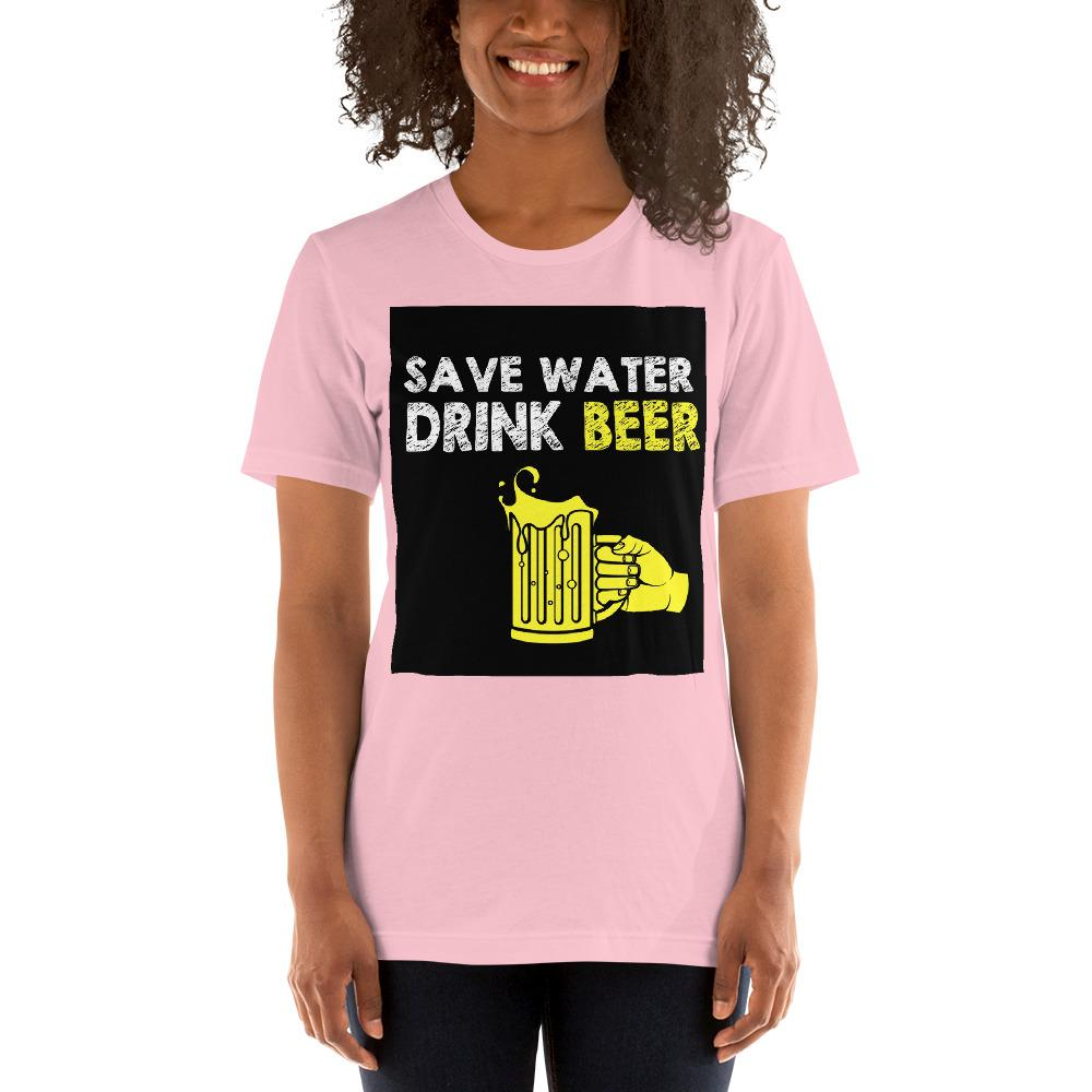 Save Water Drink Beer Women's T-Shirt Chiro's Pink S