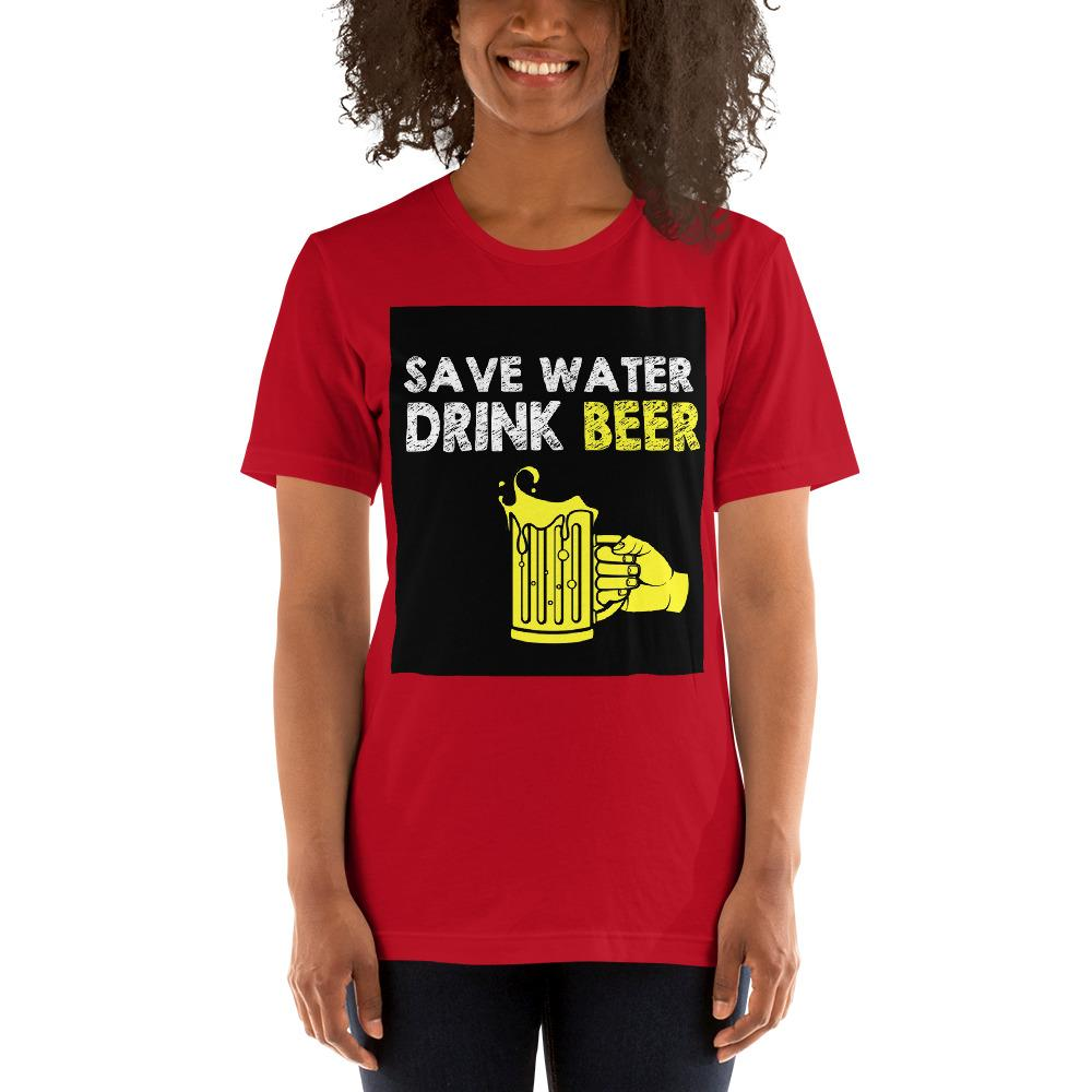 Save Water Drink Beer Women's T-Shirt Chiro's Red S