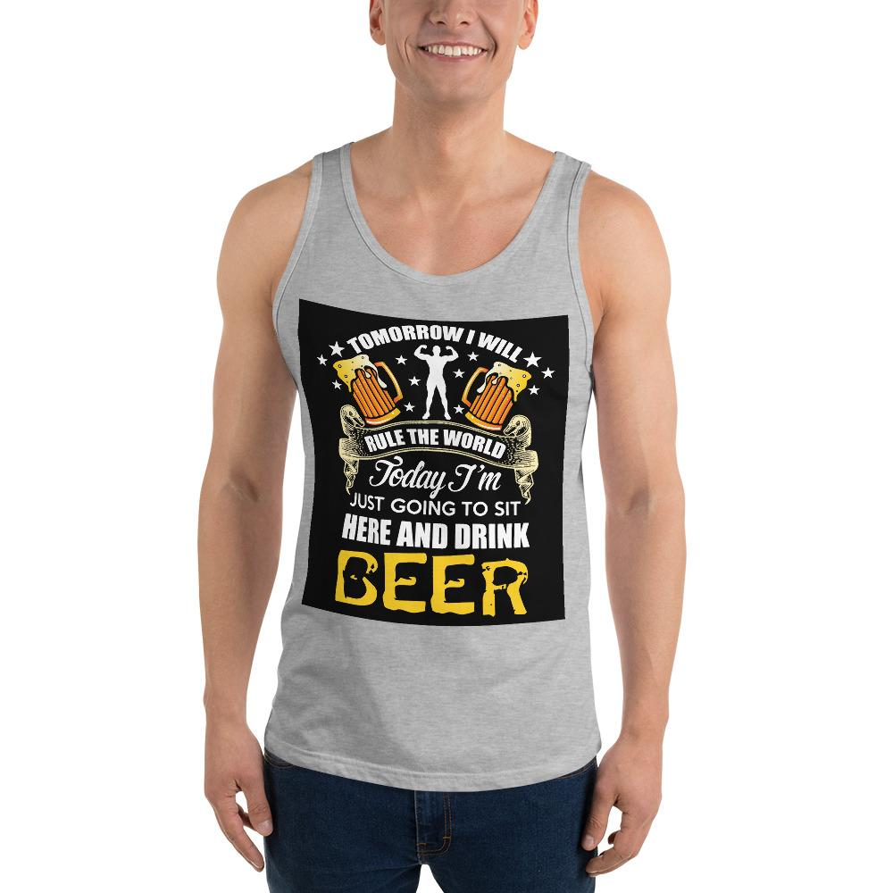 Sit Here And Drink Beer Tank Top Chiro's Athletic Heather XS