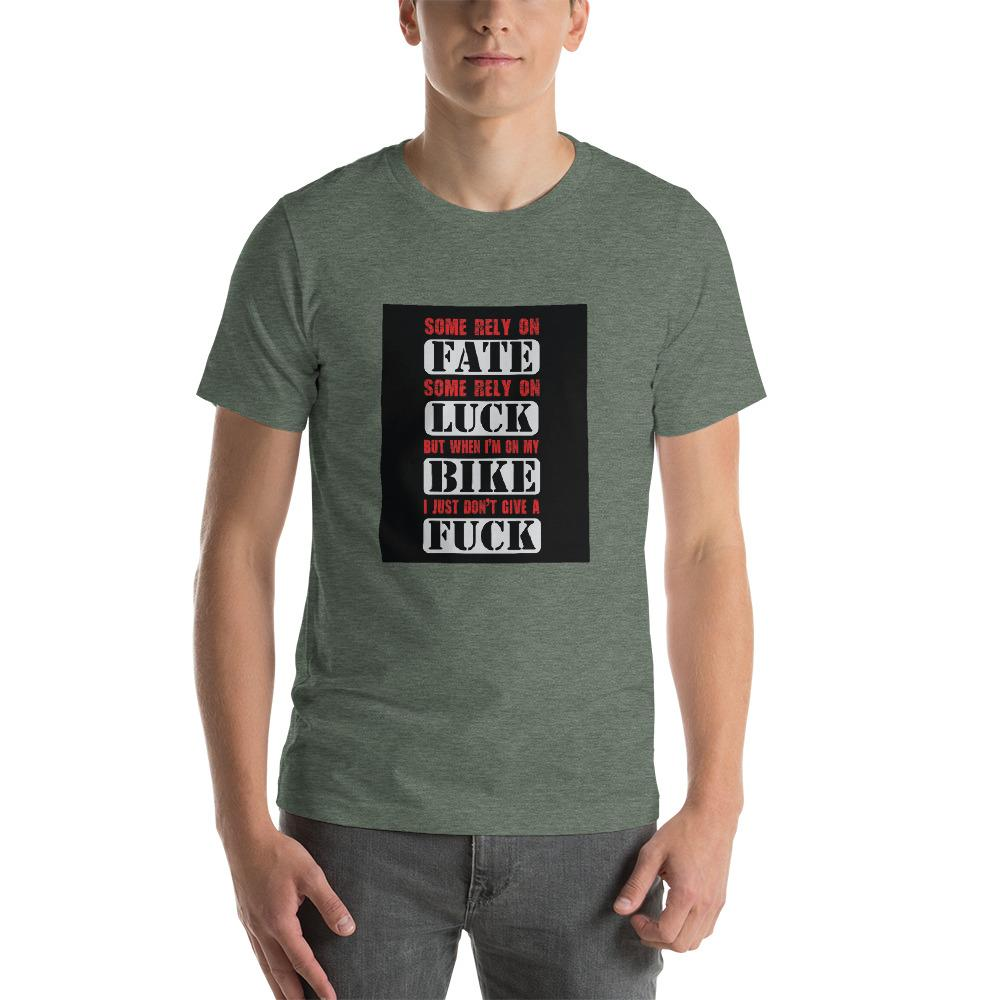 Some Rely On Fate Men's T-Shirt Biker Chiro's Heather Forest S