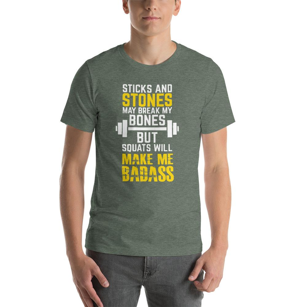Sticks and Stones Men's T-Shirt Chiro's Heather Forest S
