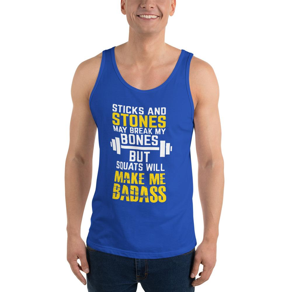 Sticks And Stones Tank Top Chiro's True Royal XS