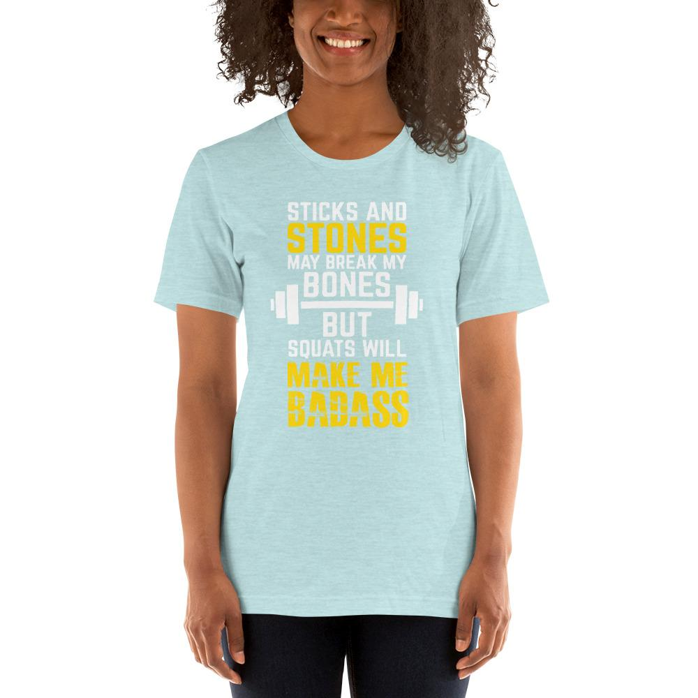 Sticks and Stones Women's T-Shirt Chiro's Heather Prism Ice Blue XS
