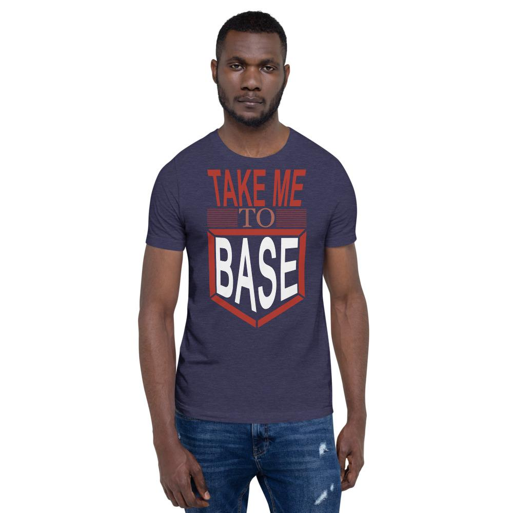 Take me to base Men's T-Shirt Chiro's Heather Midnight Navy XS