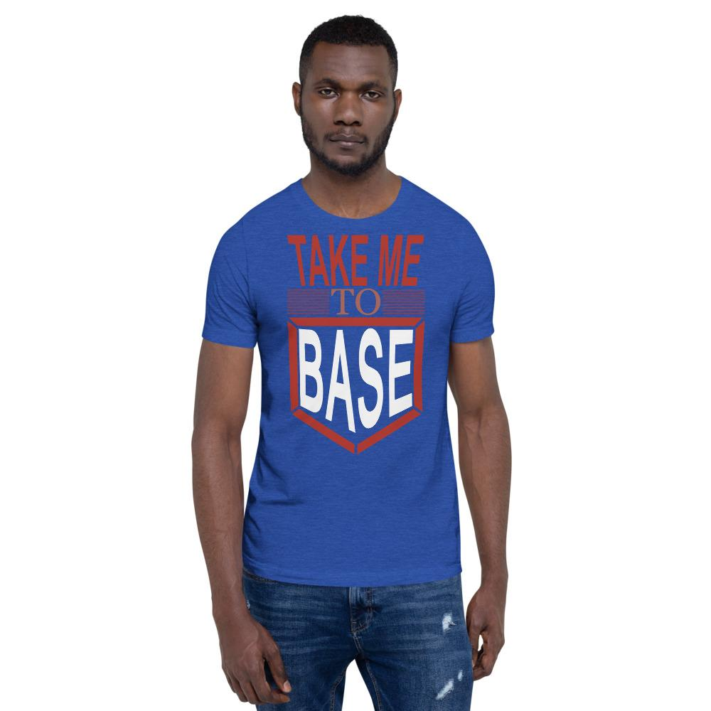 Take me to base Men's T-Shirt Chiro's Heather True Royal S