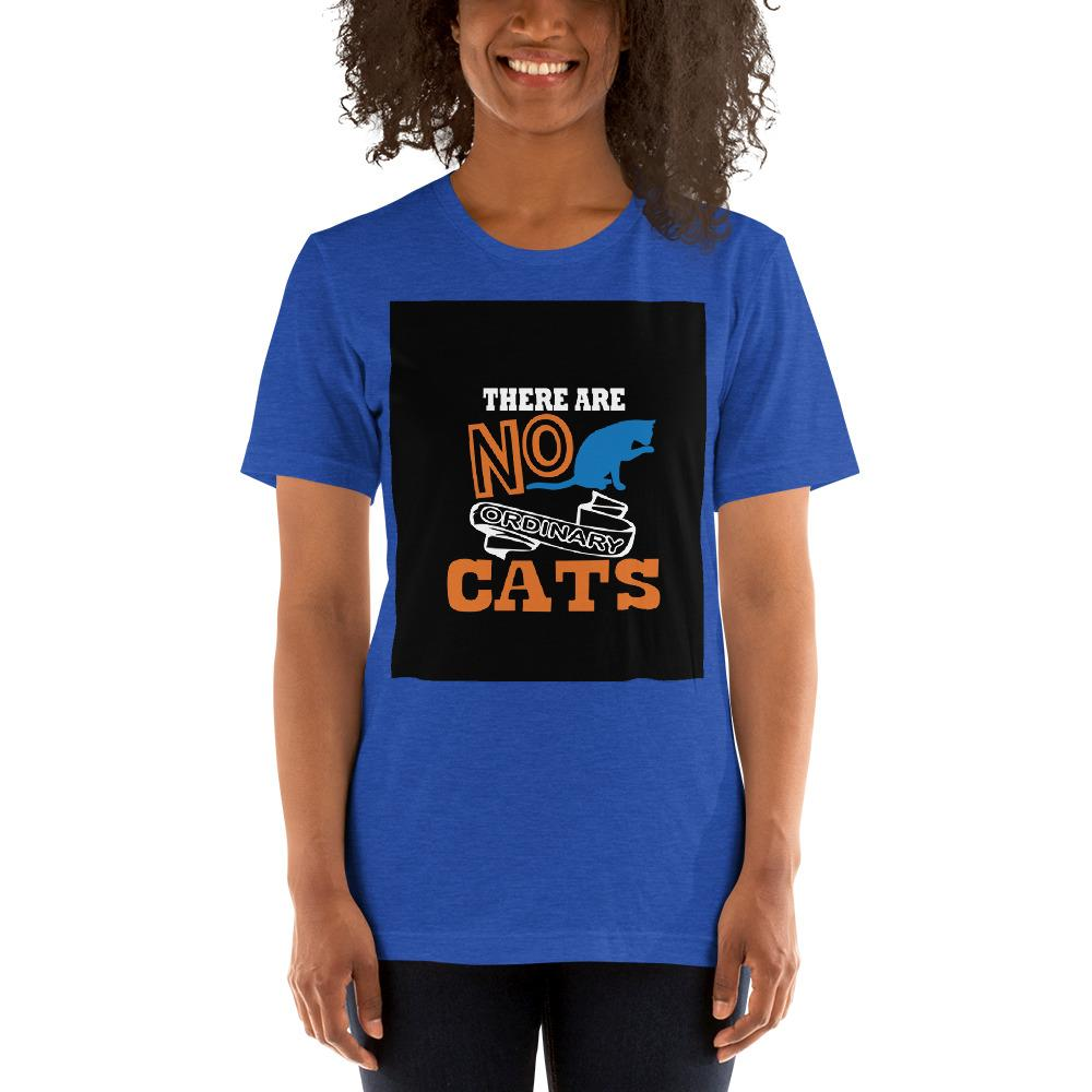 There are no ordinary cats Women's T-Shirts Chiro's Heather True Royal S