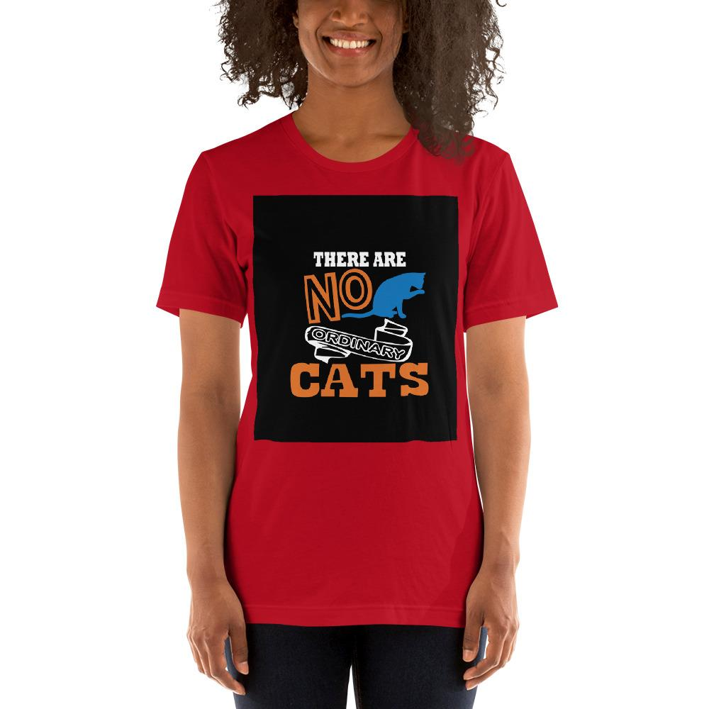 There are no ordinary cats Women's T-Shirts Chiro's Red S