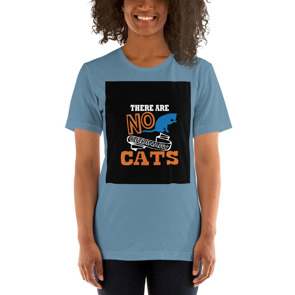 There are no ordinary cats Women's T-Shirts Chiro's Steel Blue S
