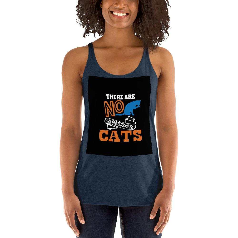 There Are No ordinary Cats Women's Tank Top Chiro's Vintage Navy XS