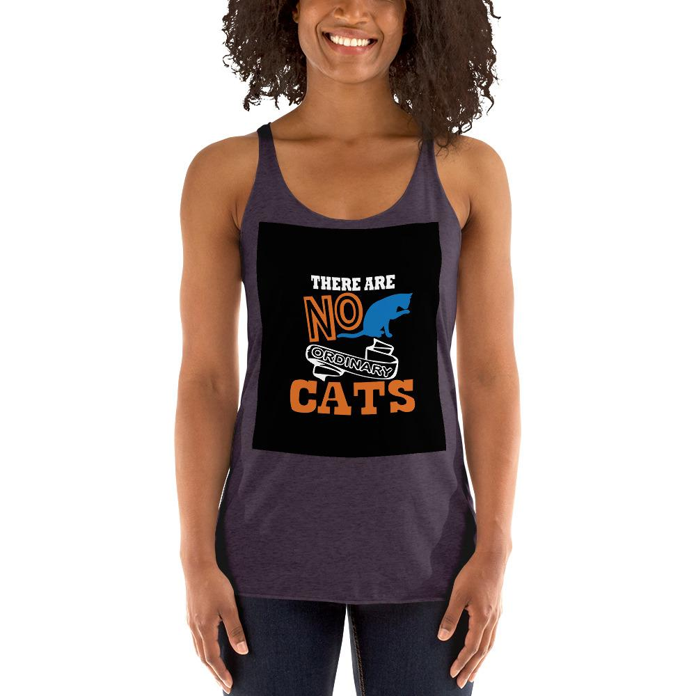 There Are No ordinary Cats Women's Tank Top Chiro's Vintage Purple XS