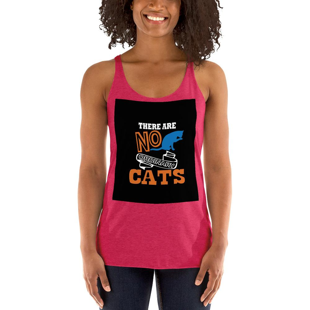 There Are No ordinary Cats Women's Tank Top Chiro's Vintage Shocking Pink XS