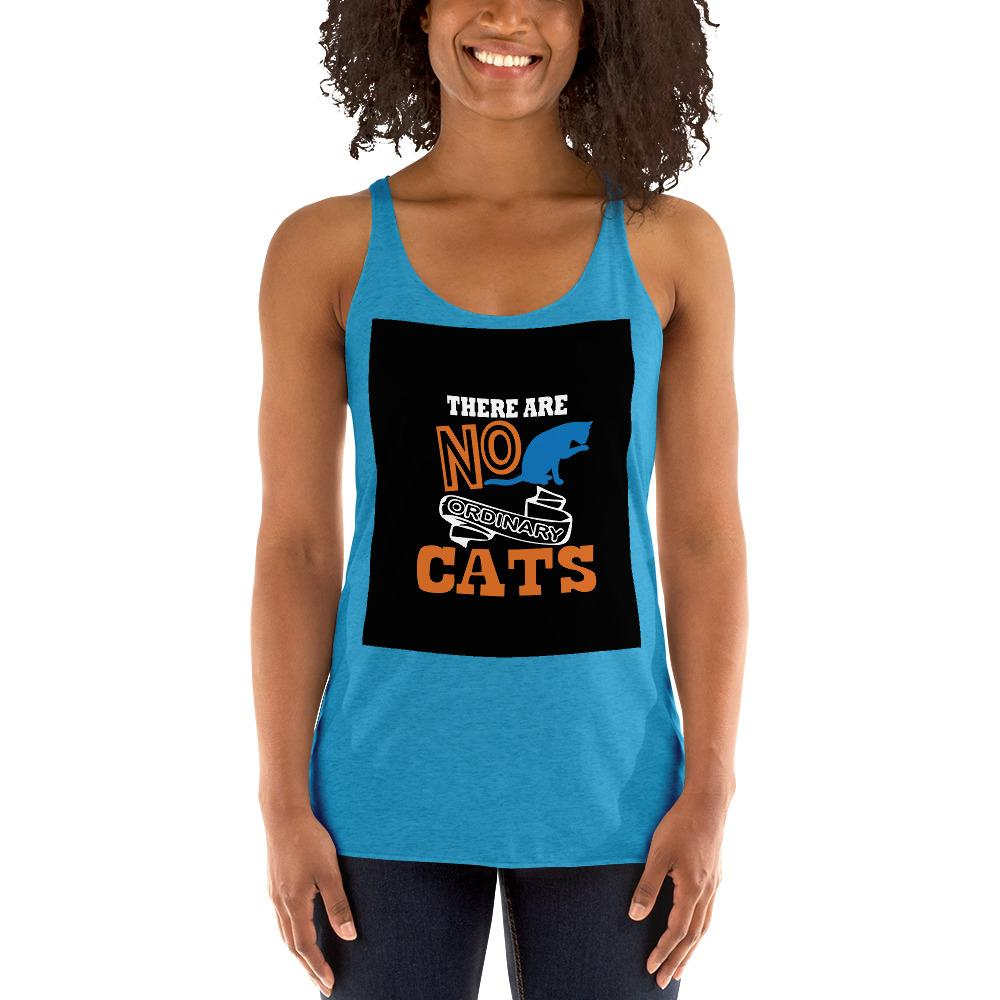 There Are No ordinary Cats Women's Tank Top Chiro's Vintage Turquoise XS