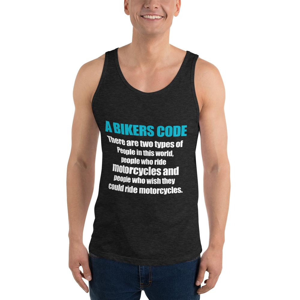 There Are Two Types Of People Tank top Biker Chiro's Charcoal-Black Triblend XS