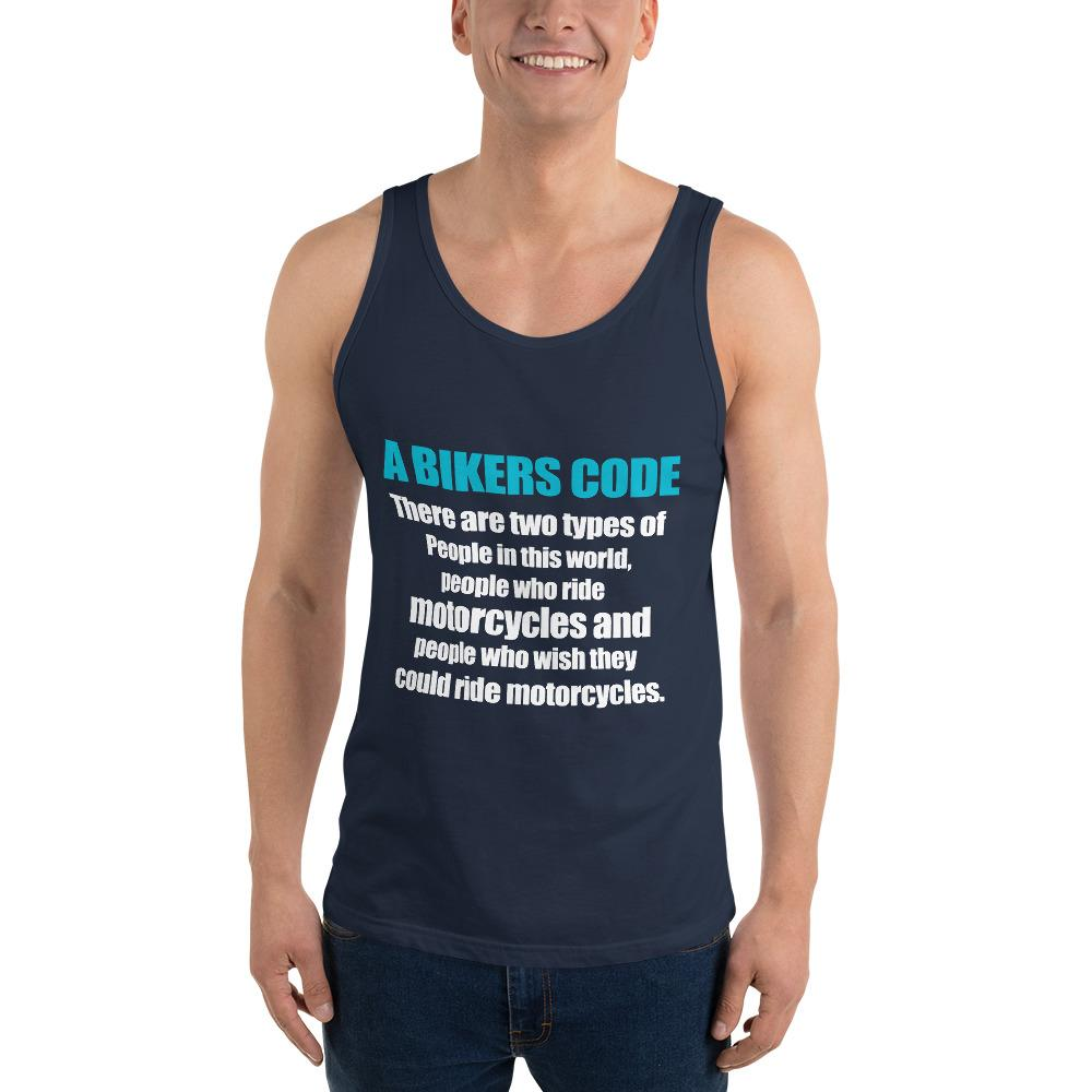 There Are Two Types Of People Tank top Biker Chiro's Navy XS