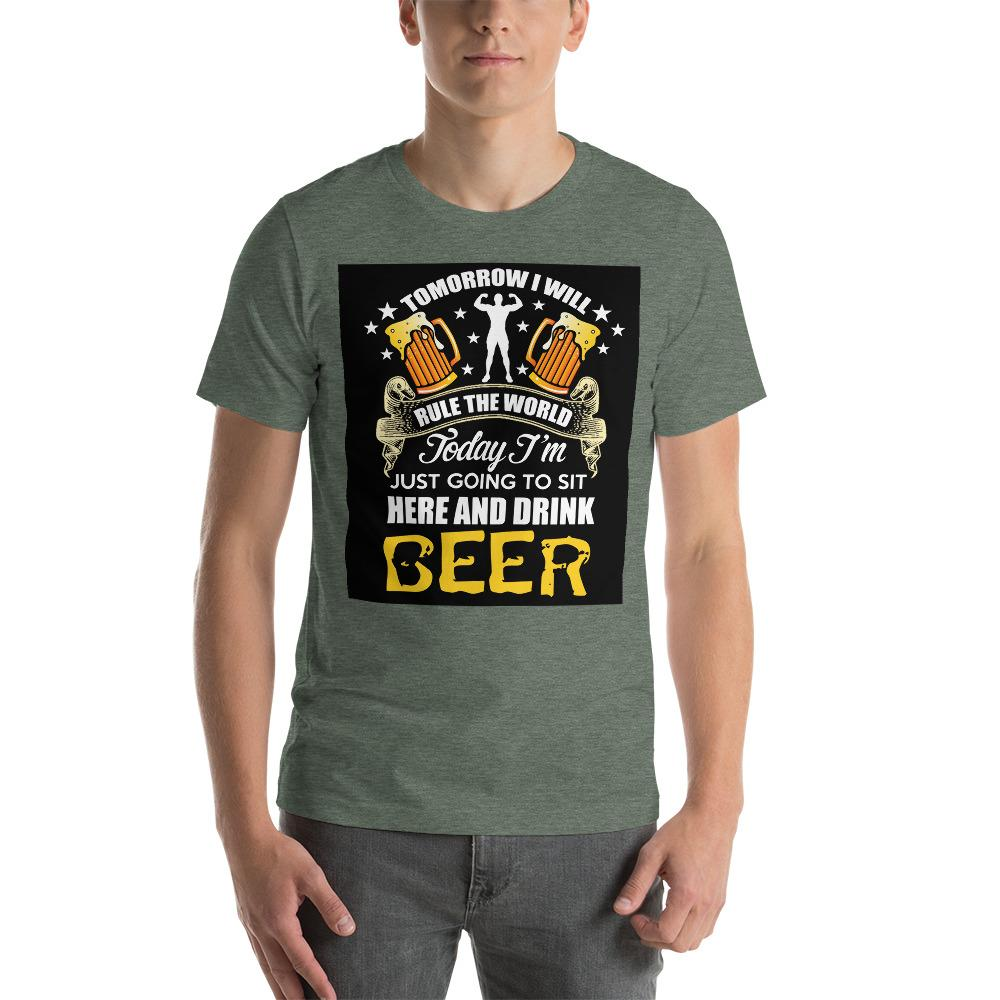 Tomorrow I will rule the world Men's T-Shirt Chiro's Heather Forest S