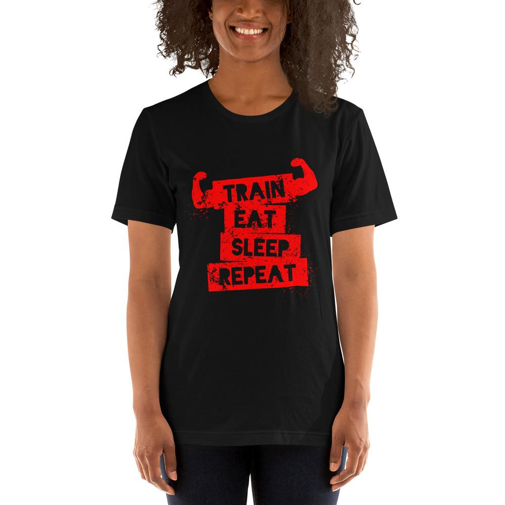Train Eat Sleep Women's T-Shirt Chiro's Black XS