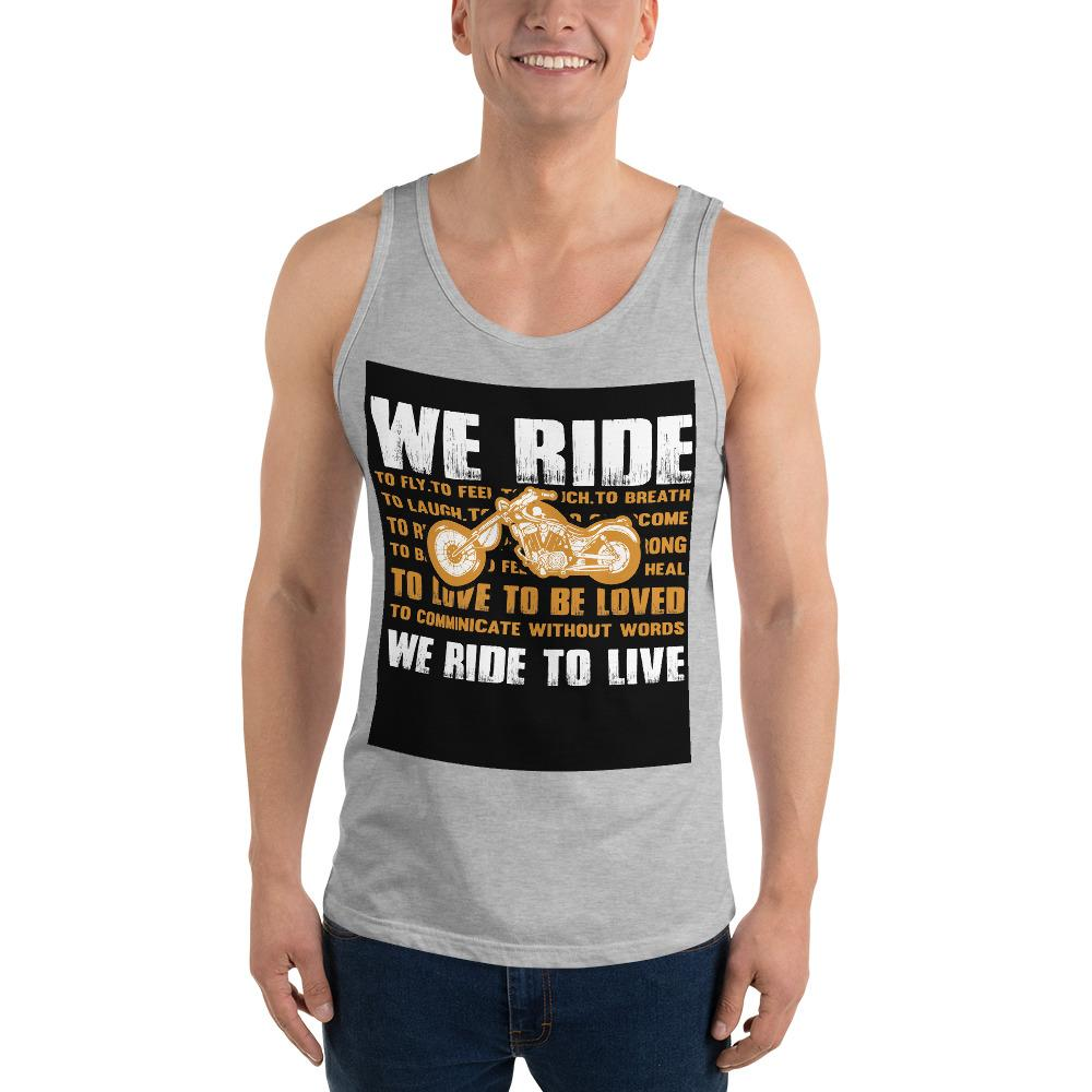 We Ride To Live Tank Top Biker Chiro's Athletic Heather XS