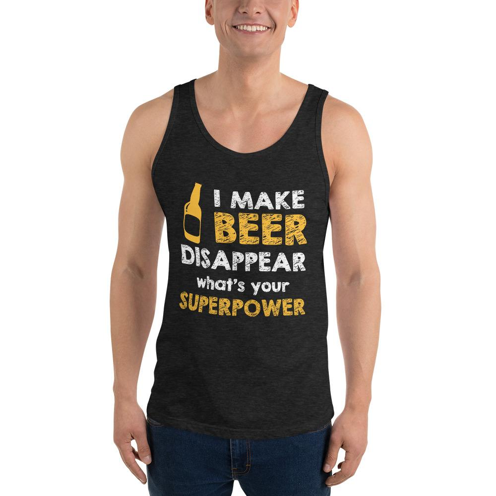 What's Your Super Power Tank Top Chiro's Charcoal-Black Triblend XS