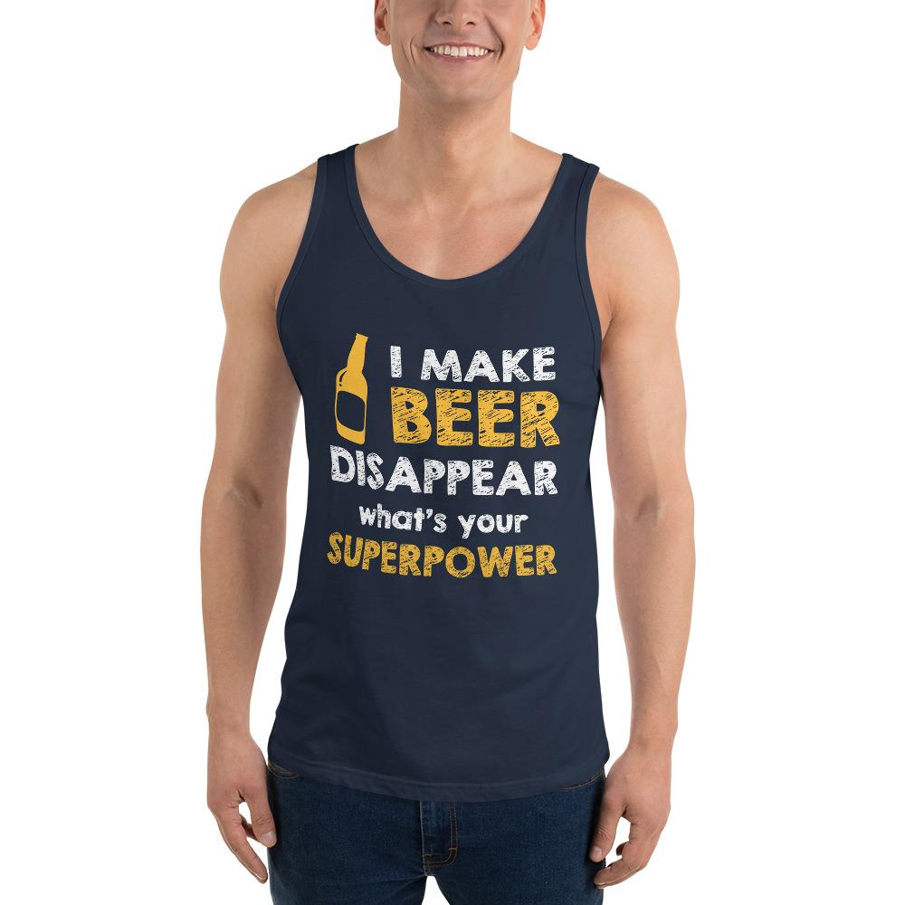 What's Your Super Power Tank Top Chiro's Navy XS