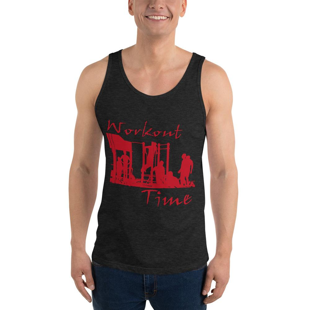 Workout Time Tank Top Chiro's Charcoal-Black Triblend XS