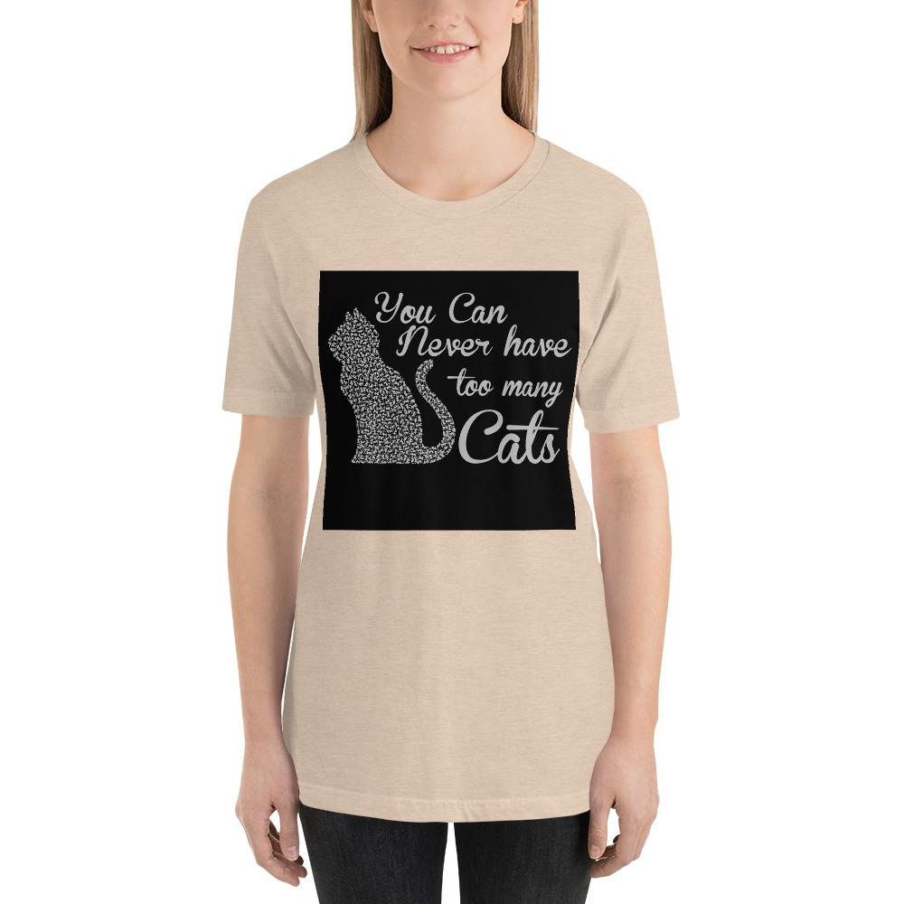 You can never have too many cats Women's T-Shirt Chiro's Heather Dust S