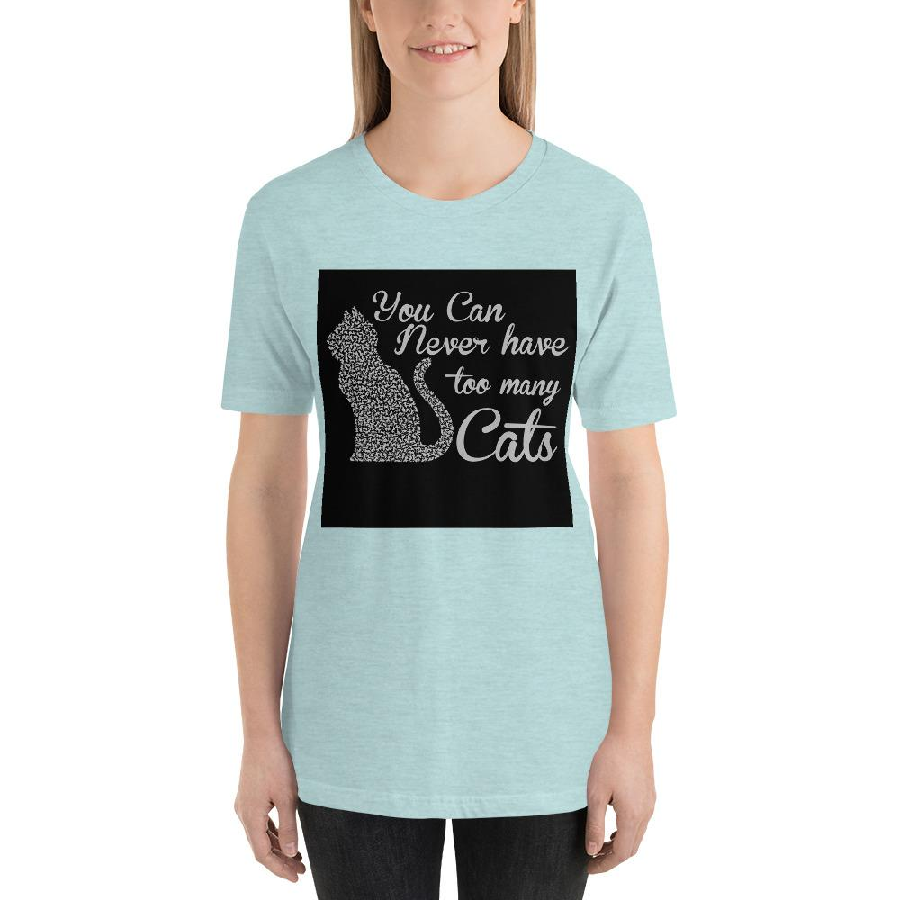 You can never have too many cats Women's T-Shirt Chiro's Heather Prism Ice Blue XS