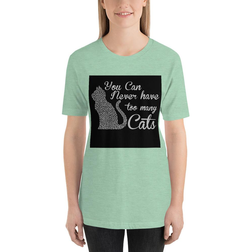 You can never have too many cats Women's T-Shirt Chiro's Heather Prism Mint XS